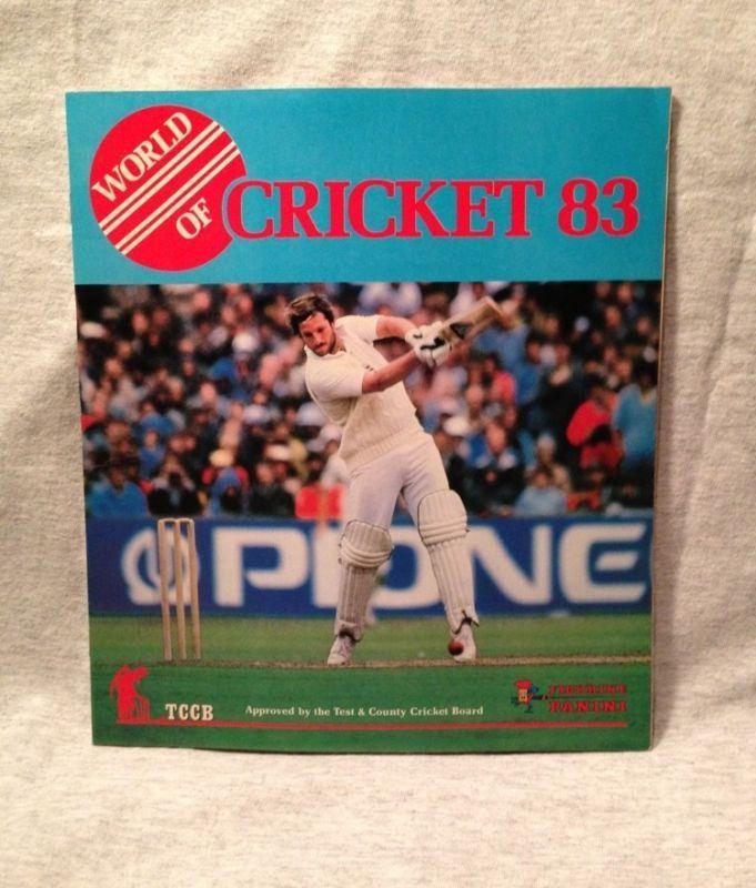 World Of Cricket 83 Figurine Panini Sticker Album Book Empty Tccb 1983!