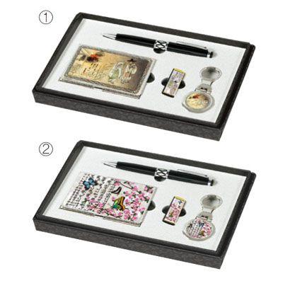 금속명함+USB+열쇠고리+자게볼펜 MOTHER OF PEARL METAL CARD CASE+USB+KEY CHAIN+BALL POINT PEN SET