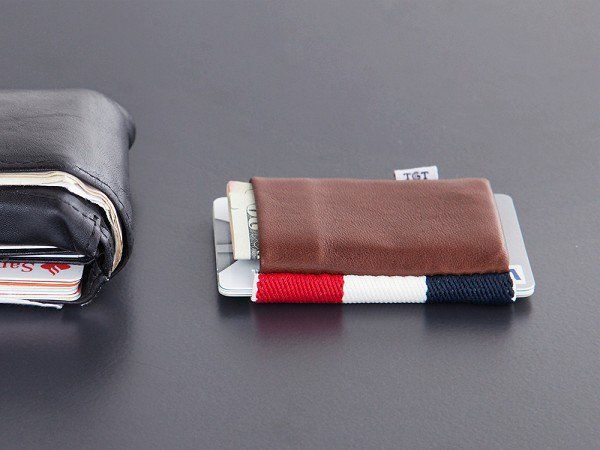"""These elastic minimalist wallets, discovered by The Grommet, are on a mission to """"keep it simple, keep it tight."""""""