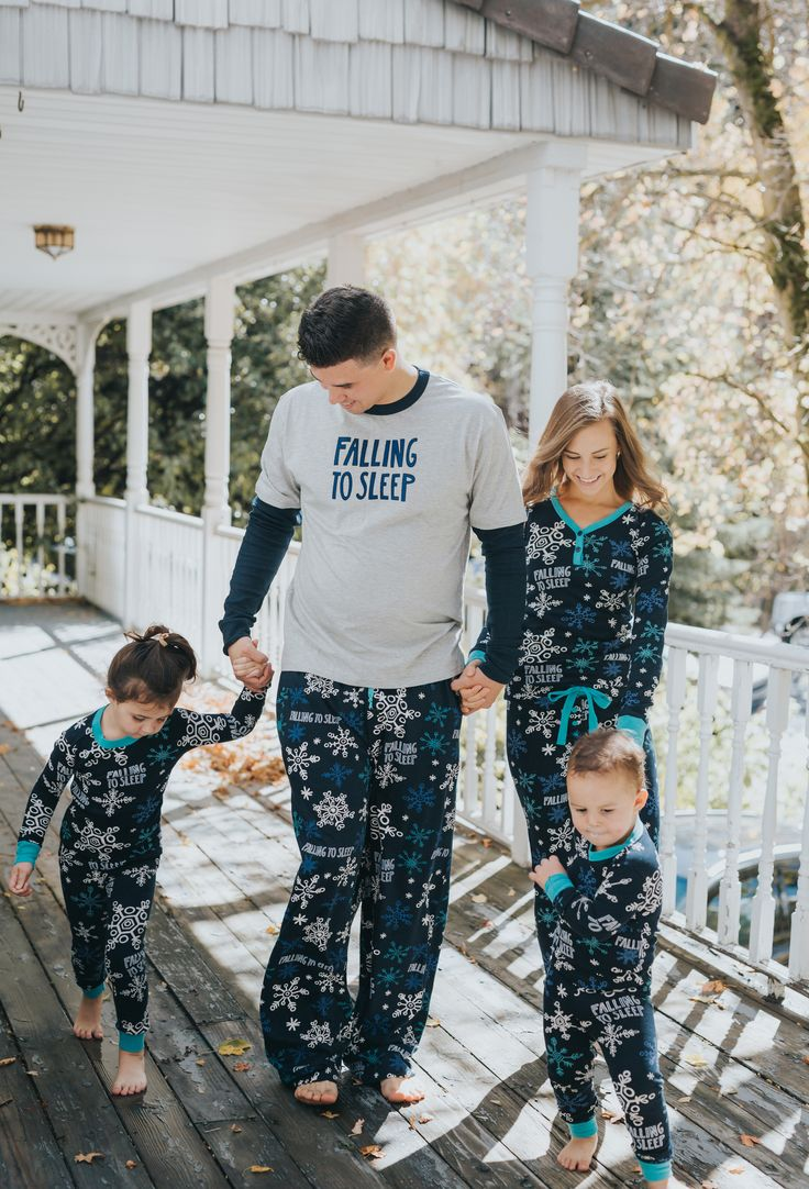 Falling to Sleep matching pajamas for the whole family! So cute and comfy. Yes, please! Lazyone.com