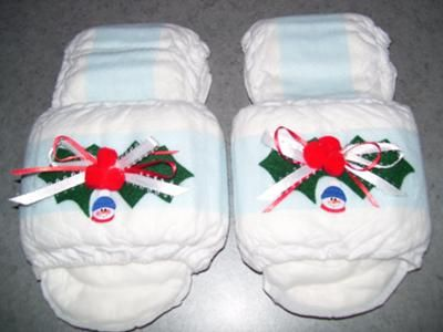 Maxi Pad Slippers: It's so much fun to read the gag gifts and I would like to thank all for their ideas because I combined some to make this gift for my sister-in-law for