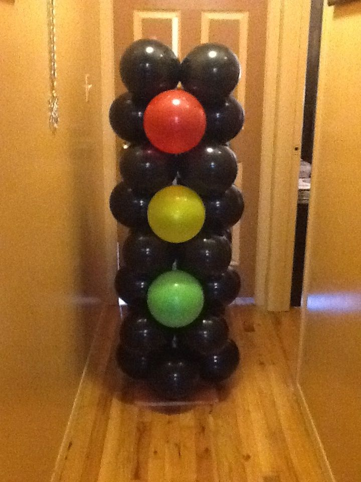 Stoplight balloon columns | Projects to Try | Pinterest ...
