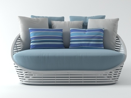 Kenneth Cobonpue Oasis Loveseat 3d Model | Kenneth Cobonpue