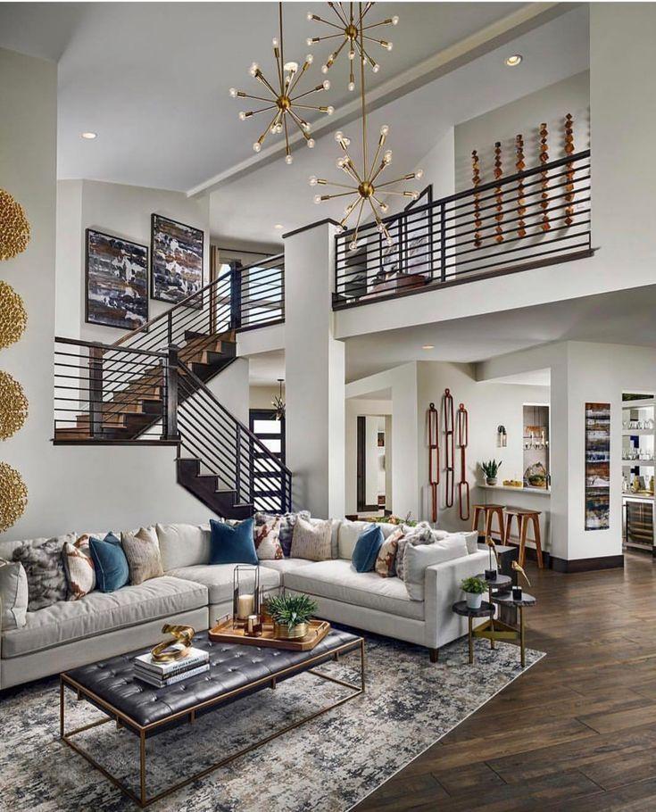 Offenes Wohnzimmer Liebe Das Treppenhaus Und Die Lampen Sind Wunderschon Das Die Lampen Liebe Offe Trending Decor Living Room Modern Home Decor Trends