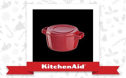 The Empire Red Professional Cast Iron 6 Qt. Casserole Dish is the appliance of my holiday dreams. Declare and Share your favourite KitchenAid small appliance for a chance to win it!