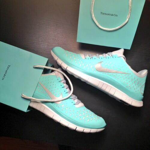 Tiffany Nike free run sneakers.