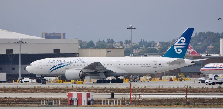Air New Zealand 777-219ER relaxing at LAX on August 13, 2011.