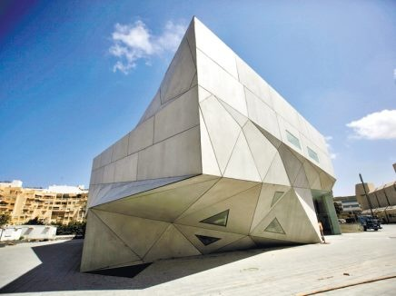 The new Tel-Aviv Museum structure inaugurated Nov.1,2011