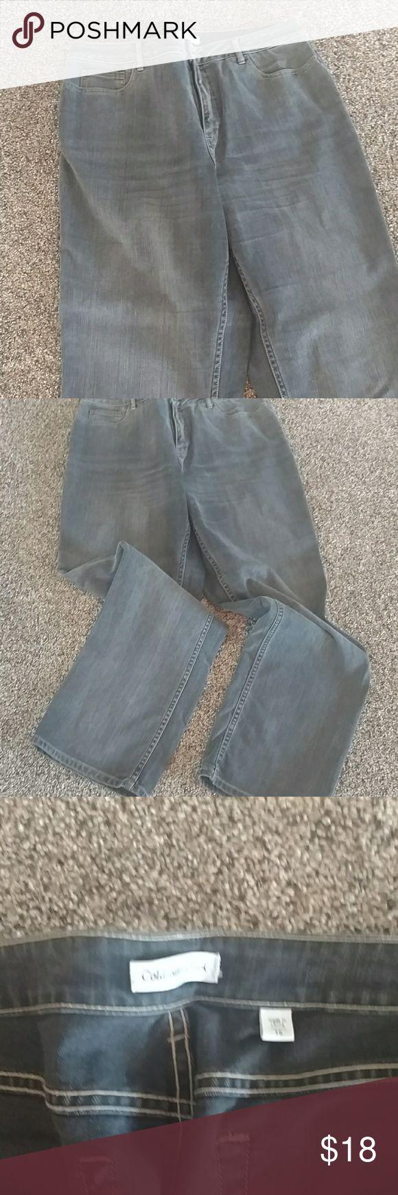 Ladies jeans Dark grey slightly worn excellent condition Coldwater Creek Jeans Straight Leg