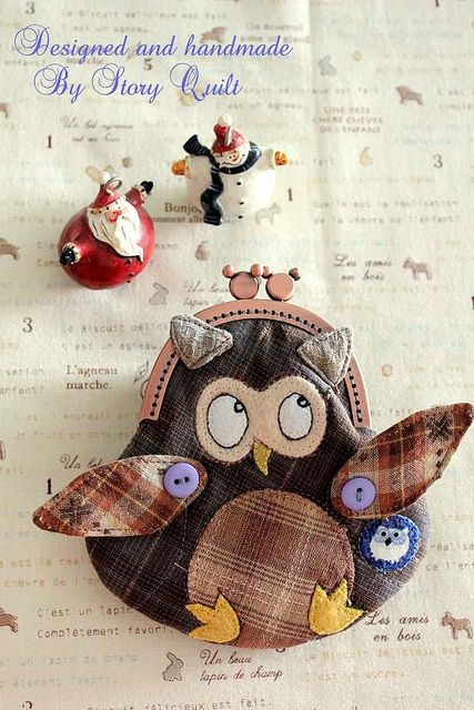Mitty Owl Clutch purse pattern available for sell now. by STORY QUILT, via Flickr