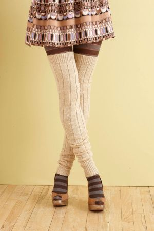 Who wouldn't love a pair of knit thigh highs? Don't answer that.  I am sure any hipster would think these were amazing!