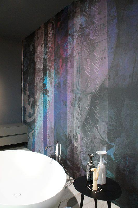 Antonio Lupi | Dimenticate wallcoverings, piastrelle o vernici. Oggi c'è un rivestimento a effetti speciali davvero unico: una sorta di tatuaggio o murales che si applica al muro con una pellicola... Foto: Orlando Macrì | #cersaie2013