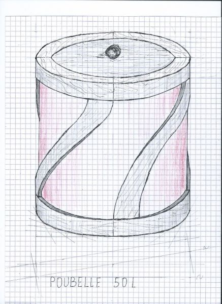 Poubelle 50 litres ou sac a linge sale en bois debillardé par sylvainlefrancomtois - voila un challenge que je propose de mettre sur le site ,pour ceux qui veulent se triturer les méninges en se lançant dans la courbe et le débillardé.