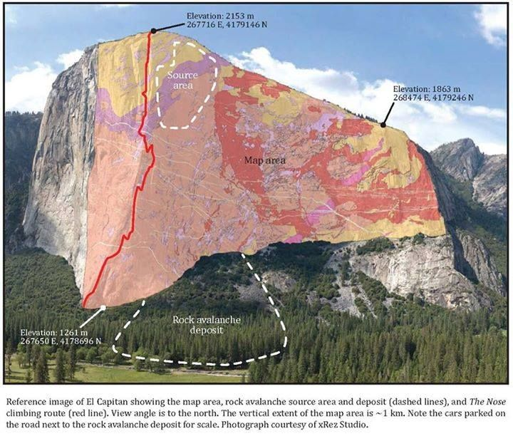 74 best interpreted geology images on pinterest earth science geology of se face of el capitan yosemete valley fandeluxe Image collections