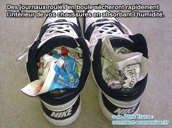 L'Astuce Pour Faire Sécher Rapidement Vos Chaussures Mouillées.