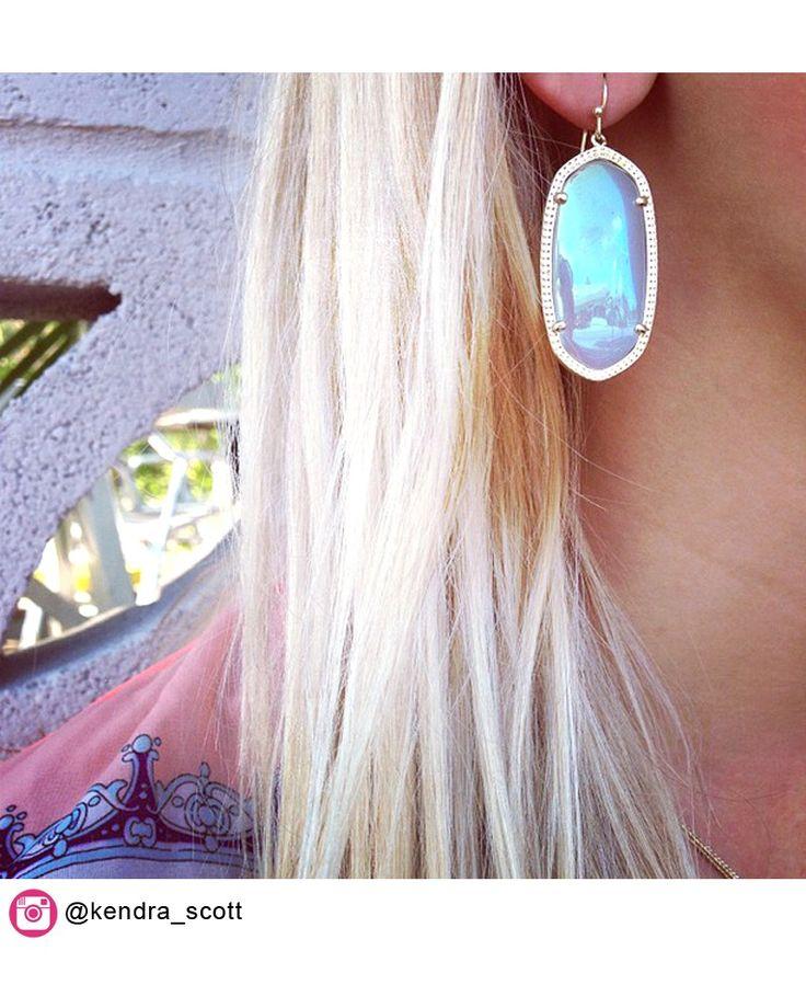 Elle Earrings in Iridescent Agate - Kendra Scott Jewelry