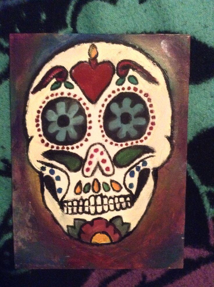 Skull painting.