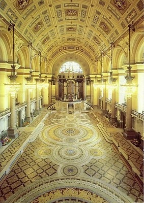 I have been dancing here ! St Georges Hall , Liverpool the original floor is shown on this photo, it's normally covered up.