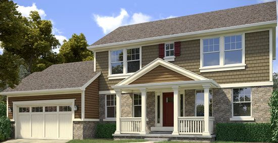Two Story Home Enhance The Designed Exterior