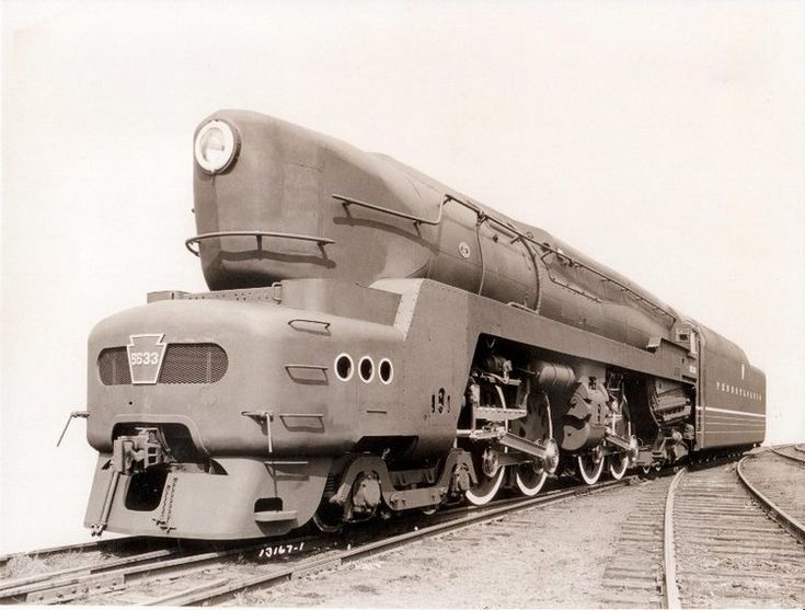 "Until 1940s, no fast full-size passenger train could be successfully hauled by a diesel-electric locomotive (electric locos are  another story). Hence the need for streamline steam monsters, and the Pennsylvania Railroad T1 duplex drive engines were not only the largest – they cried out loud: ""Tomorrow is already here!"""