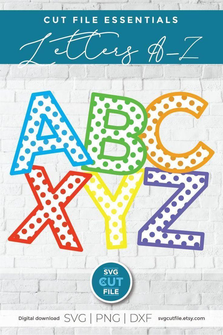 Polka dot letters svg, polka dot font, bubble font svg
