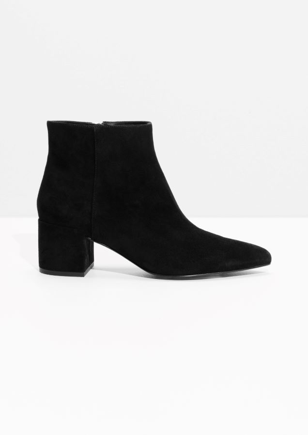 & Other Stories image 1 of Leather Ankle Boots in Black