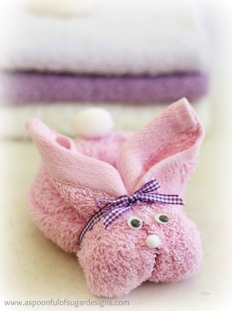 Bunny spa kit made from facecloth - perfectTween Easter Ideas & Gifts