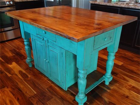 Distressed Furniture Kitchen Island