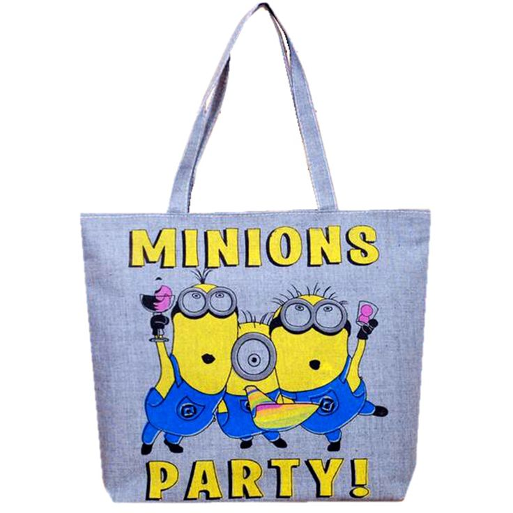Cartoon Minions Despicable Me 3D Printed Casual Tote Women Canvas Handbag Shoulder Shopping Bags Fashion Female Canvas Beach Bag