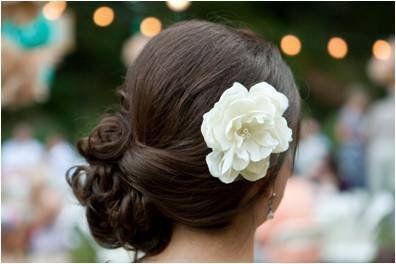 : Hair Ideas, Side Dos, Hair Flowers, Bridesmaid Hair, Hair Pieces, Wedding Updo, Wedding Hair Style, Side Buns, Wedding Gifts