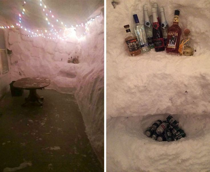 The Correct Way To Be Snowed In...