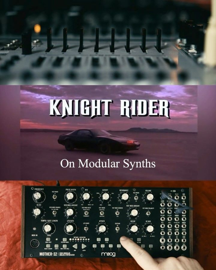 Koboto on Instagram: The Knight Rider Theme played on modular synths