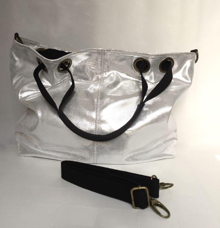 #lulu j boutique#Italian leather handbags#cape town#johannesburg#silver leather shoulder handbag# www.lulujboutique.com