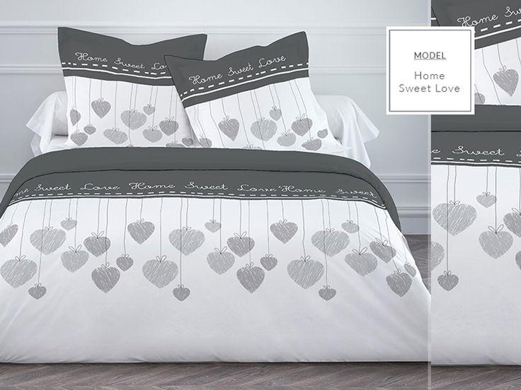 HOME SWEET LOVE idealna pościel dla młodych biała z bawełny