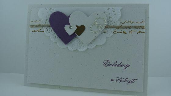 Einladungskarten zur Hochzeit - lenaspapierzauber