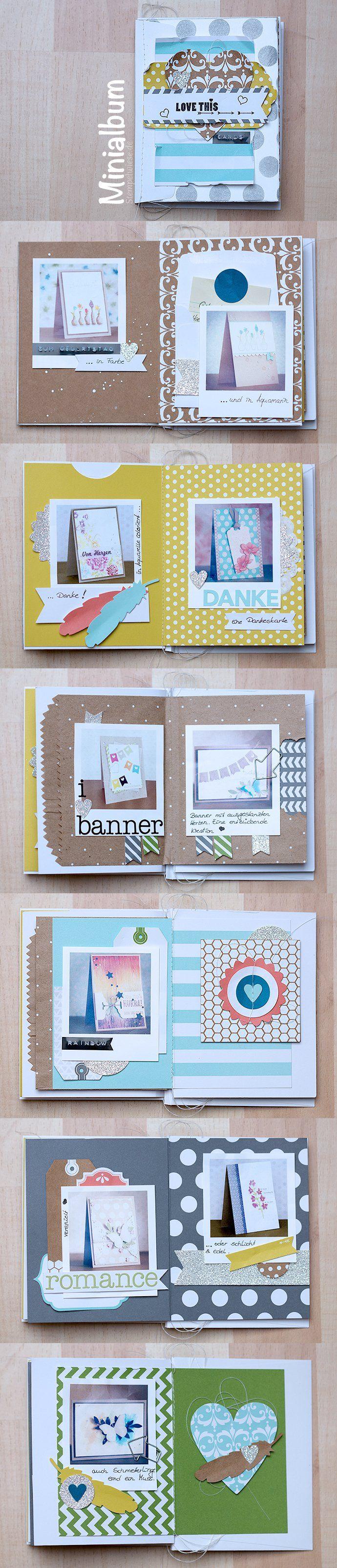 Ein weiteres tolles Projekt aus dem Onlinekurs von Janna Werner ist dieses kleine Minialbum bestehend aus 12 Seiten. Hierfür habe ich auch meinen kleinen DYMO Junior verwendet. Damit kann man ganz schnell kleines Titel prägen und direkt einkleben. Beim dem DYMO Junior gefällt mir die Schriftgröße – die Buchstaben sind ca. 3mm groß, also ideal...