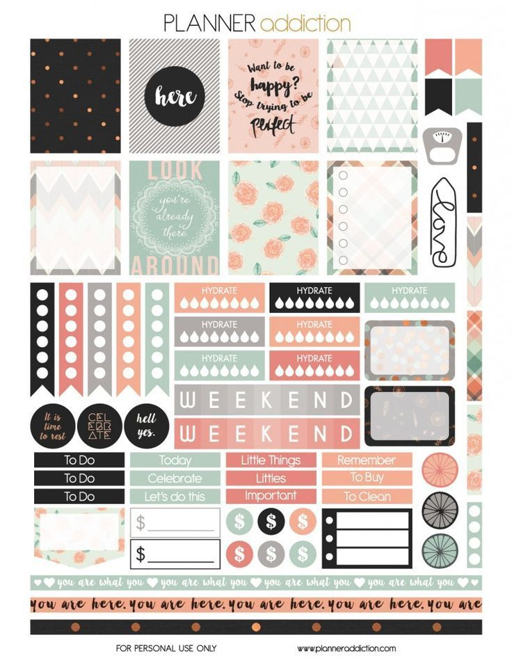 Free You Are Here Printable Planner Stickers from Planner Addiction