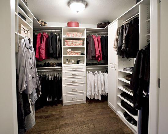 White Melamine Walk In Closet