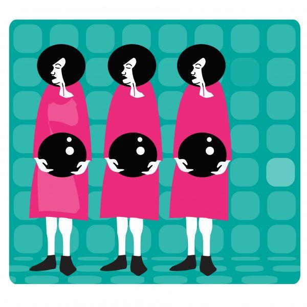 #pool #women #illustration
