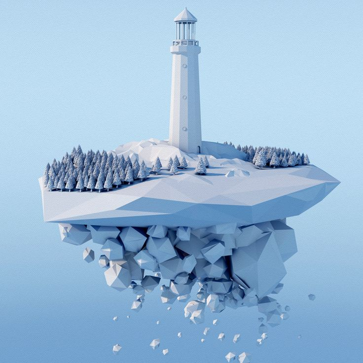 Lighthouse in low poly