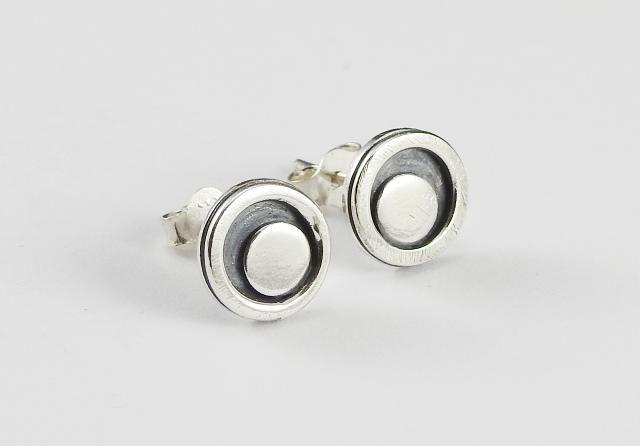 Everyday earrings, stud earrings, Runde dot studs