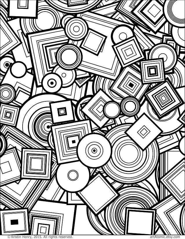 Downloadable Adult Coloring Page: Generative Circles and ...