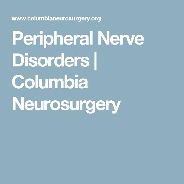 Peripheral Nerve Disorders | Columbia Neurosurgery