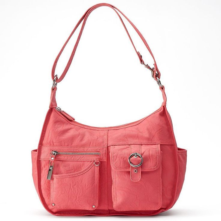 Rosetti Riveting Seams Convertible Hobo Bag, Women's, Med Pink