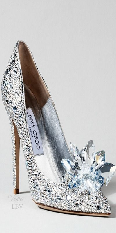 """Cinderella-inspired """"glass slippers"""" by Jimmy Choo"""