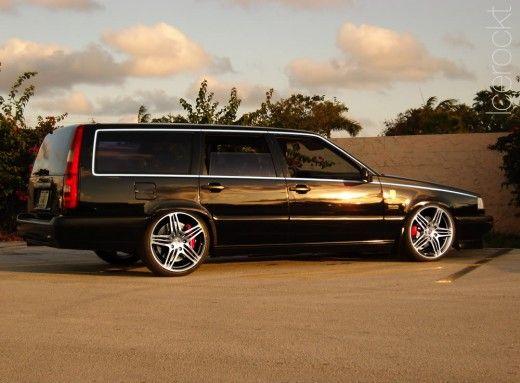 black volvo 850 with 19 inch rims Dream Wheels