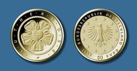 BRD 50 Euro-Gold 2017 Lutherrose https://www.facebook.com/primusmuenzen/