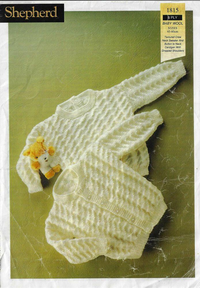 Stylecraft 4163 4ply Knitting Pattern Cardigan Robe Bonnet