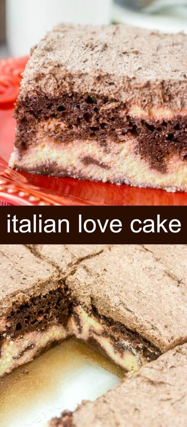 Layers of chocolate, ricotta and frosting this Italian Love Cake absolutely lives up to its name for so many glorious reasons. cake/chocolate cake/Italian cake Italian Love Cake {A Fun and Easy Delicious Chocolate Cake} via @thebestcakerecipes