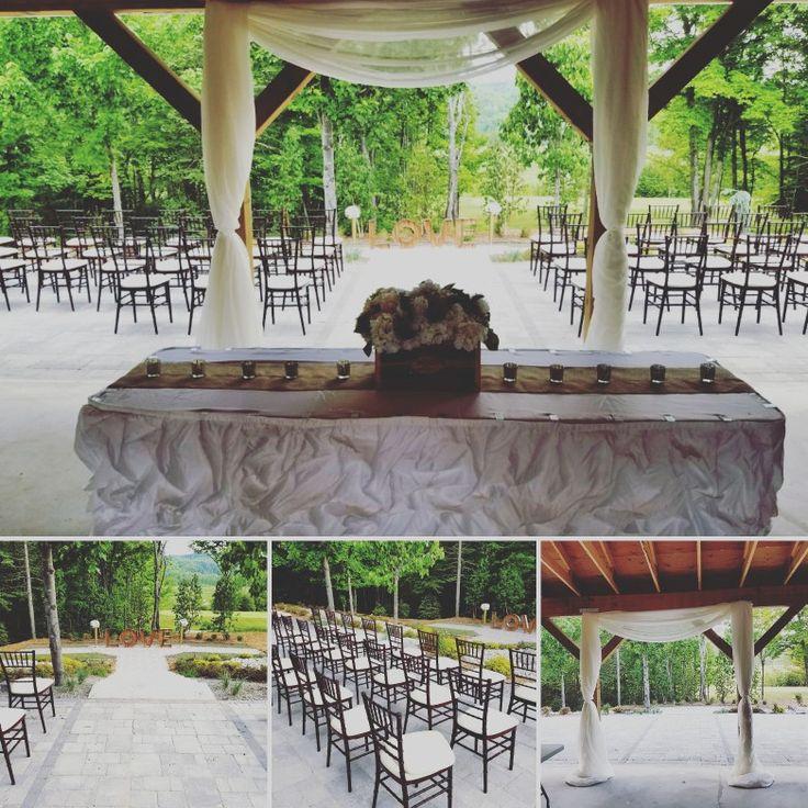 #sneekpeek #Weddings at #silvercreekgolfcourse is going to be stunning. The renovation looks amazing. #pacconstructiongroup did a phenomal job the brick work is gorgeous! #rusticdecor #rusticwedding #DETeam #Chiavari #mahoganychairs